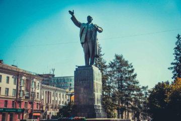 Памятник В. И. Ленину в Иркутске